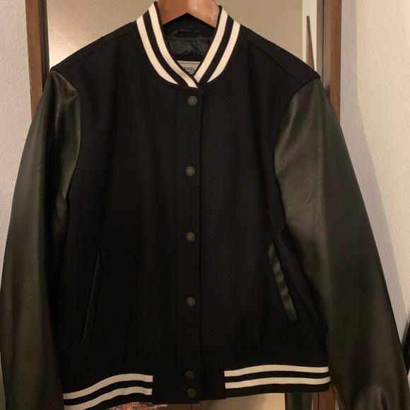 Levi's Jackets & Blazers - Levi's Black Letterman/Varsity Jacket
